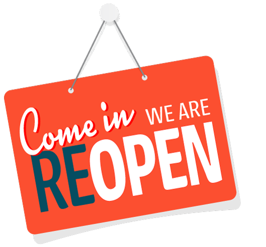 We are reopen